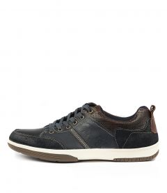 C Victor Navy Leather