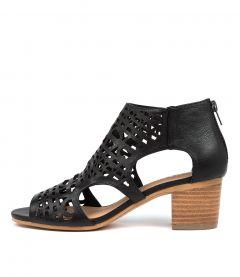 Boris Dj Black Natural Heel Leather