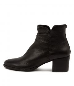 Millie Dj Black Black Heel Leather
