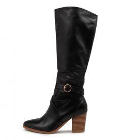 Tess Dj Black Natural Heel Leather