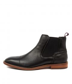 Bask Black Leather
