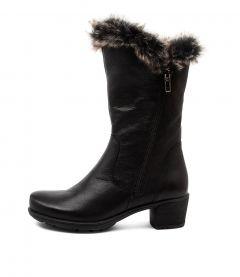 Iris Su Black Grey Multi Leather Fur