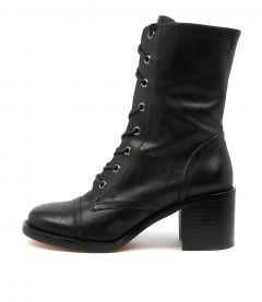 Natalie Black Leather