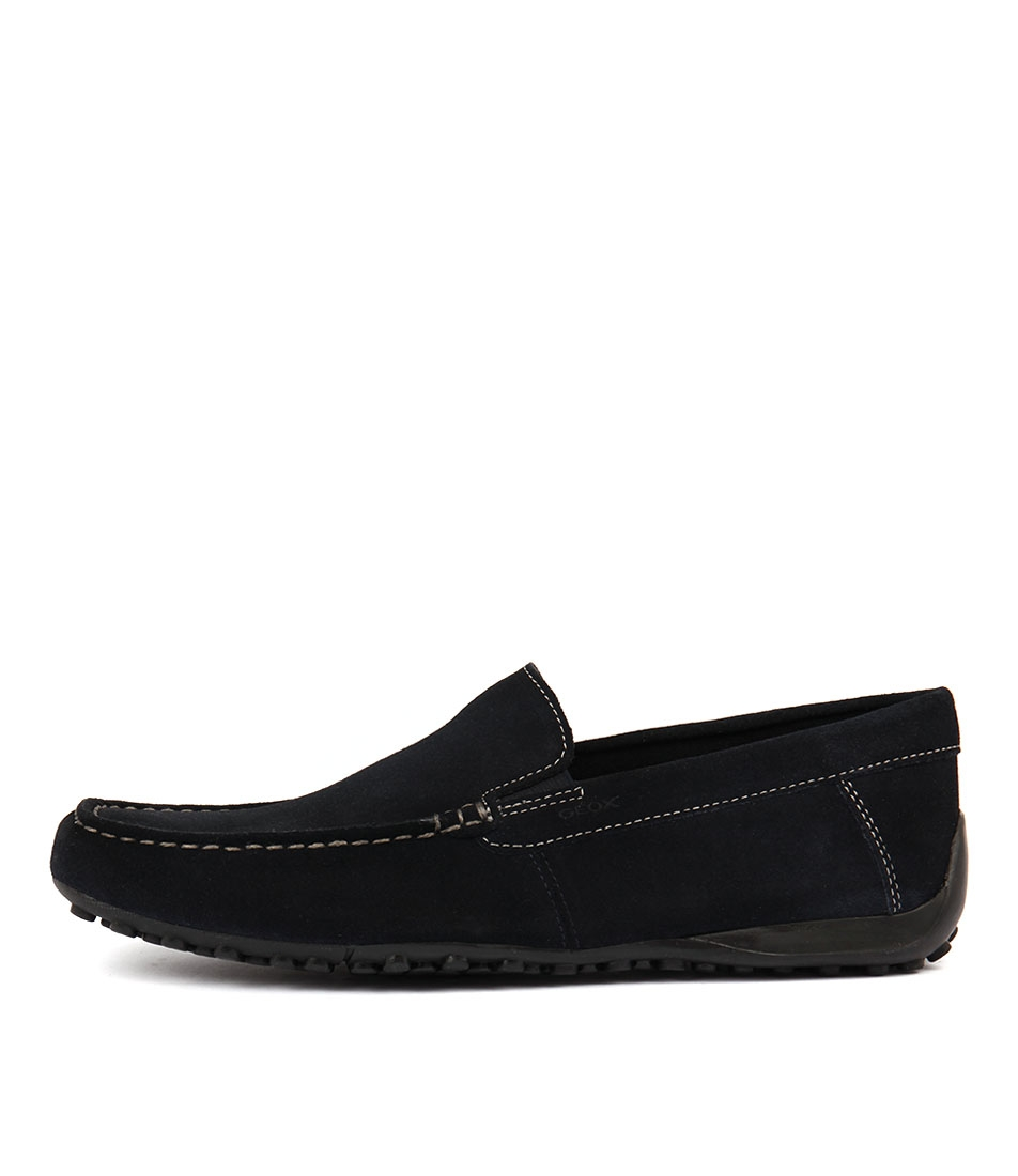 3ccd6450310 SNAKE MOC B NAVY SUEDE by GEOX - at Mathers