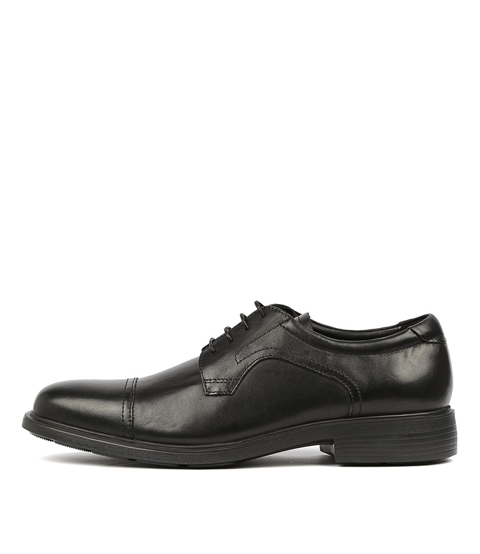 f9fa1524af U DUBLIN C BLACK SMOOTH LEATHER by GEOX - at Mathers
