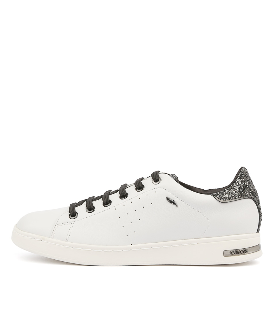 b3e6eff22da D JAYSEN 6A WHITE SILVER LEATHER GLITTER by GEOX - at Mathers