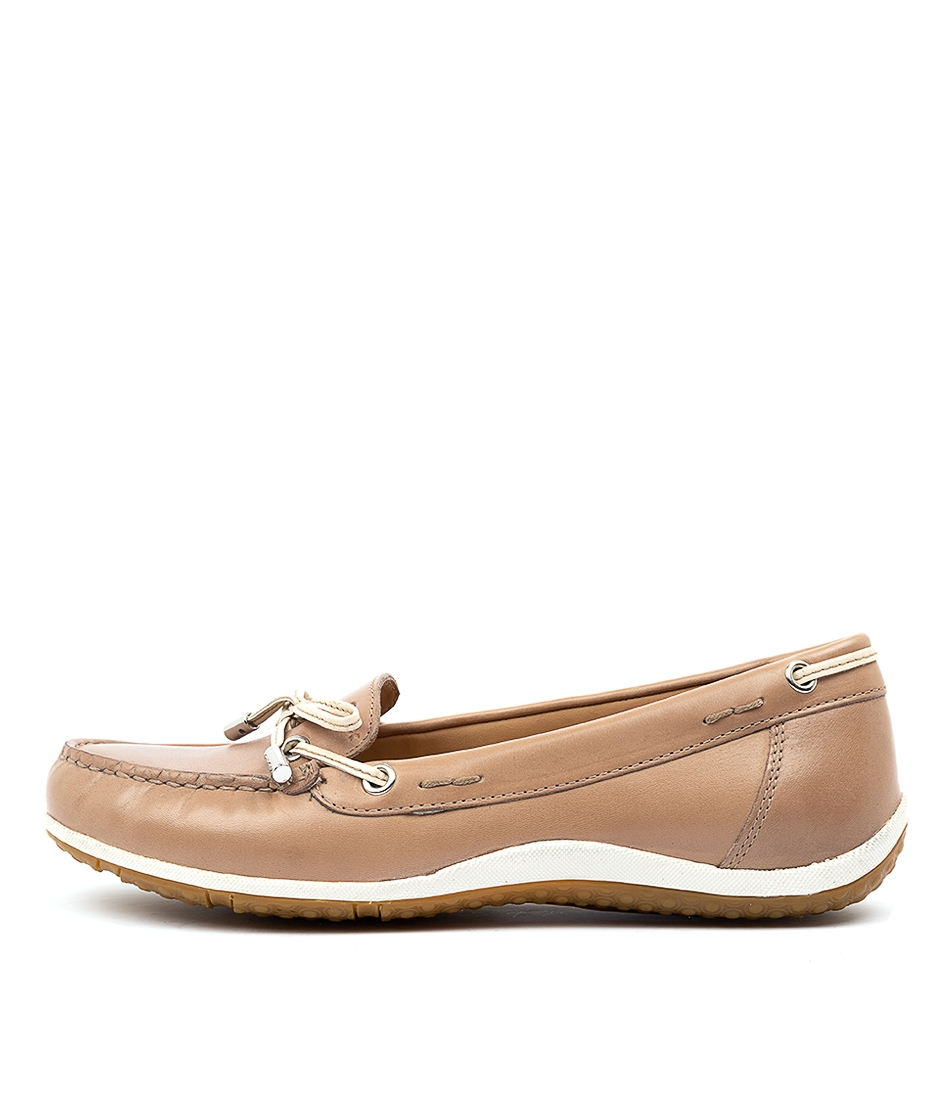 e8df588f89508 D VEGA MOC B TAUPE CREAM LEATHER by GEOX - at Mathers