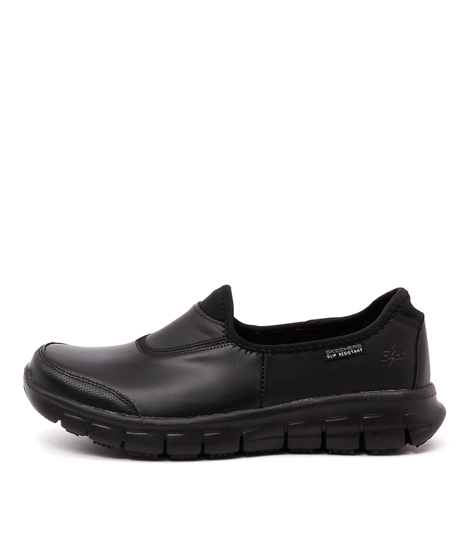 38a1a0239c8c 76536 SURE TRACK BLACK BLACK LEATHER by SKECHERS - at Mathers
