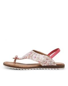 KIRBY DF FUSCHIA FLORAL LEATHER