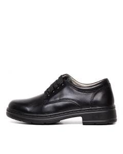 C-SSTRUCK JNR BLK LEATHER