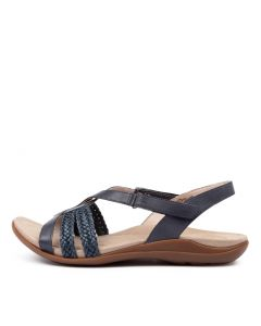 BETSY NEU NAVY LEATHER