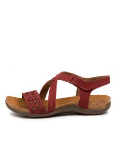 EVALYN RED NAPPA LEATHER