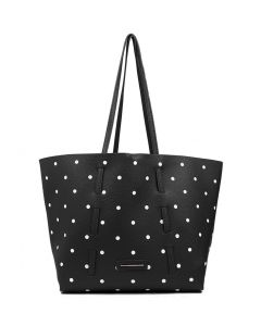 AMY TOTE BLACK DOTS SMOOTH