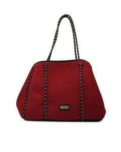 VIOLET TOTE BAG BURGUNDY NEOPRENE