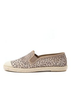 SERENA DF TAN LEOPARD CANVAS