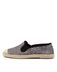 SERENA DF BLACK LEOPARD CANVAS