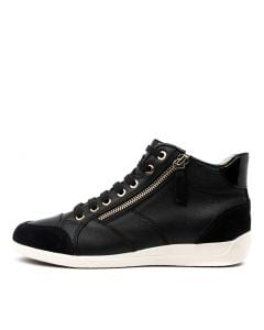 D MYRIA C BLACK LEATHER SUEDE