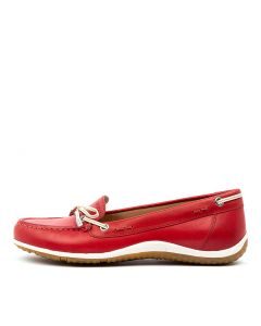 D VEGA MOC B RED WHITE LEATHER