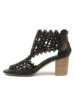 SHANO BLACK NATURAL HEEL LEATHER