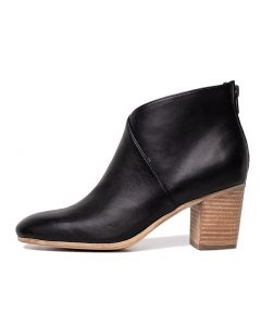 TRYSTAN BLACK NATURAL HEEL LEATHER