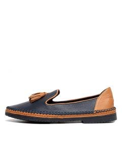 VORALE NAVY TAN LEATHER