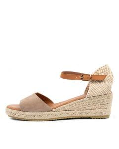 SUNDAY IR TAUPE LT TAN SUEDE LEATHER
