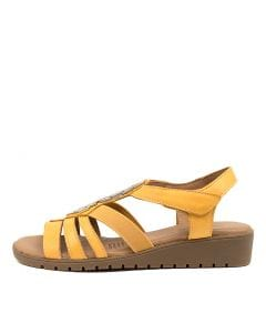 HUTCHINS YELLOW LEATHER